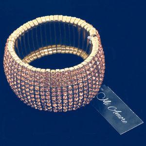 NEW Rose Gold Bling Holiday Stretch Bracelet